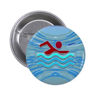 Swim Club Swimmer Exercise Fitness NVN254 Swimming Pin