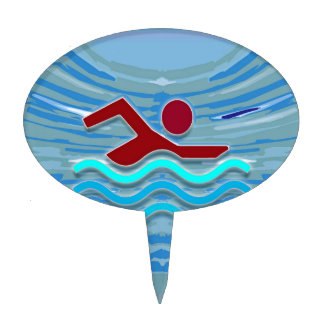 Swim Club Swimmer Exercise Fitness NVN254 Swimming Cake Toppers