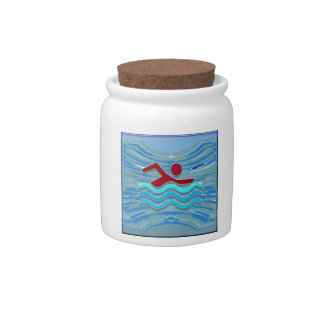 Swim Club Swimmer Exercise Fitness NVN254 Swimming Candy Dish