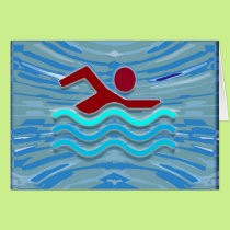 Swim Club Swimmer Exercise Fitness NVN254 Swimming Card