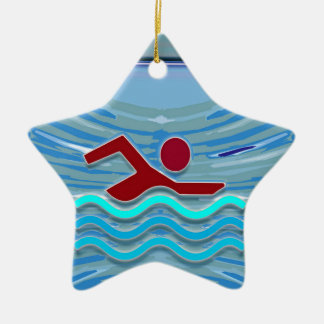 Swim Club Swimmer Exercise Fitness NVN254 Swimming Ceramic Ornament