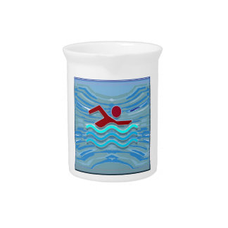 Swim Club Swimmer Exercise Fitness NVN254 Swimming Drink Pitchers