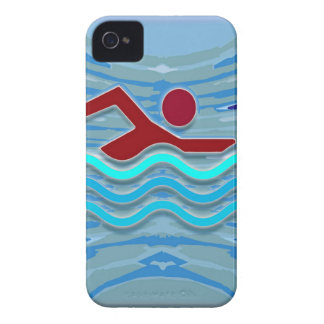Swim Club Swimmer Exercise Fitness NVN254 Swimming iPhone 4 Case-Mate Cases