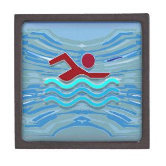 Swim Club Swimmer Exercise Fitness NVN254 Swimming Keepsake Box