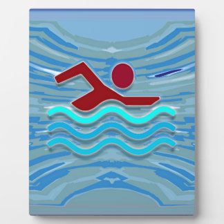 Swim Club Swimmer Exercise Fitness NVN254 Swimming Plaque