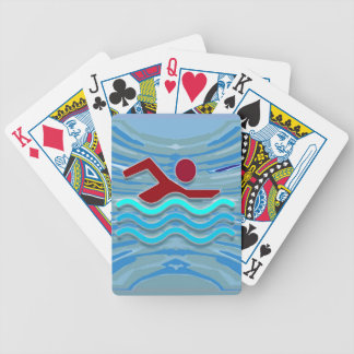 Swim Club Swimmer Exercise Fitness NVN254 Swimming Playing Cards