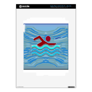 Swim Club Swimmer Exercise Fitness NVN254 Swimming iPad 3 Decal
