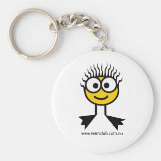 Swim Club Yellow  Swim Character Key Ring Basic Round Button Keychain