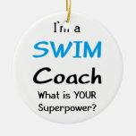 Swim coach ceramic ornament