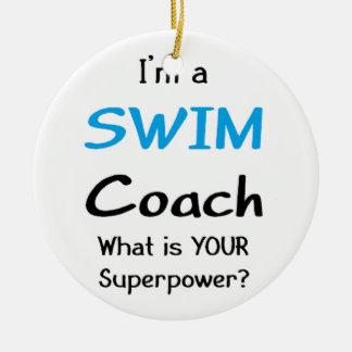 Swim coach christmas ornament