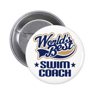 Swim Coach Gift 2 Inch Round Button