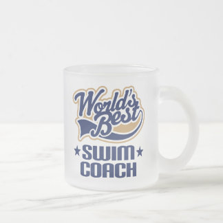 Swim Coach Gift Frosted Glass Coffee Mug