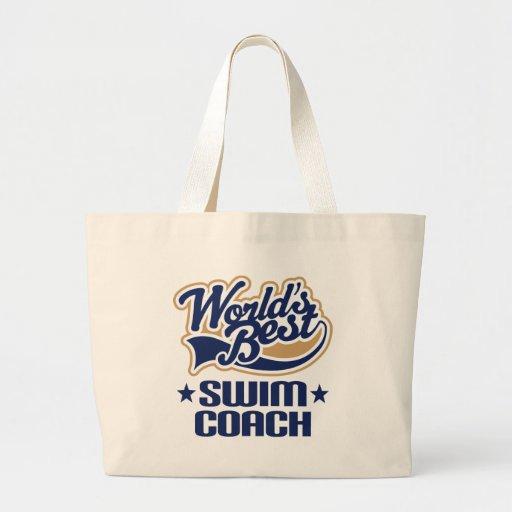 Swim Coach Gift Jumbo Tote Bag