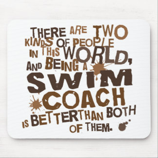 Swim Coach Gift Mouse Pads