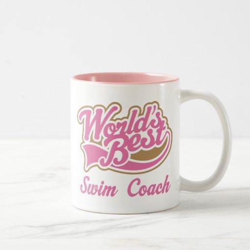 Swim Coach Gift Two-Tone Coffee Mug