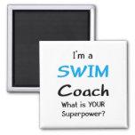 Swim coach magnet