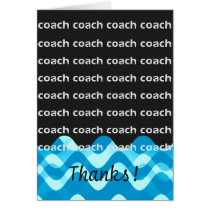 Swim Coach or Dive Coach Thanks Card