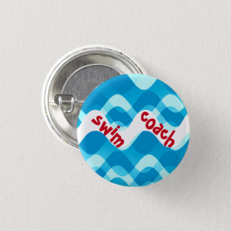 SWIM COACH PINBACK BUTTON