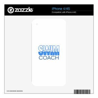 SWIM COACH DECALS FOR iPhone 4S