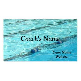 SWIM COACH'S BUSINESS CARD