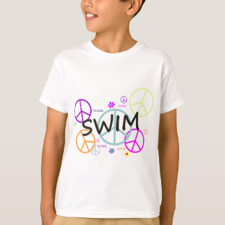 Swim Colored Peace Signs T-Shirt