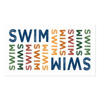 Swim Cute Colorful Business Card Template