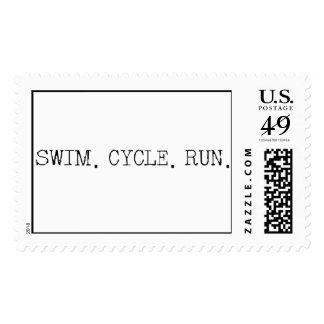 Swim Cycle Run Stamps