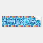 Swim dad bumper sticker car bumper sticker