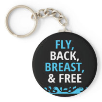 Swim Design For Men For Competitive IM Swimmers Keychain