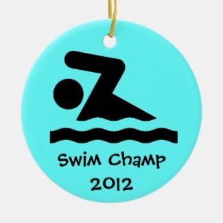 Swim Design Ornament