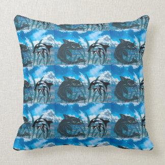 swim dive marine animals fish water dolphin throw pillow