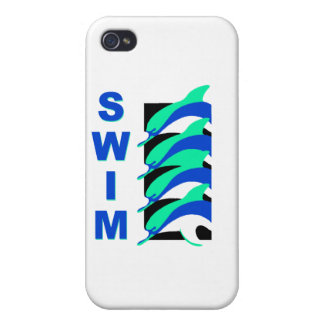 Swim Dolphins Cover For iPhone 4