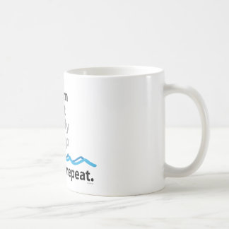 Swim, eat, study, sleep ... rinse and repeat coffee mug