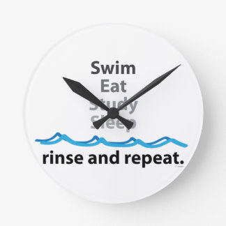 Swim Eat Study Sleep Round Clock