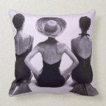 SWIM FASHION - 1950 (PHOTOGRAPH) Throw Pillow