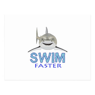 SWIM FASTER POSTCARD