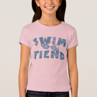 Swim Fiend - Funny Swimming T Shirts for Girls