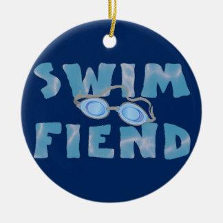 Swim Fiend - Swimming Ornament