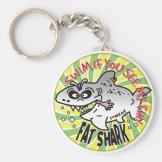 Swim Fin Fat Shark Key Chains