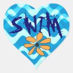 SWIM Flower Sticker