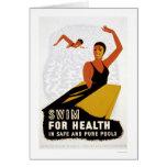 Swim For Health 1940 WPA
