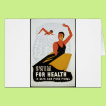 Swim for health in safe and pure pools card