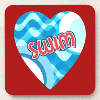 SWIM for Swimmers that Love Swimming Beverage Coaster