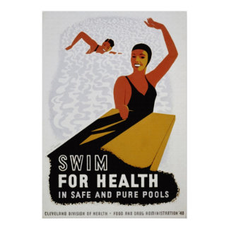 Swim for Your Health Poster