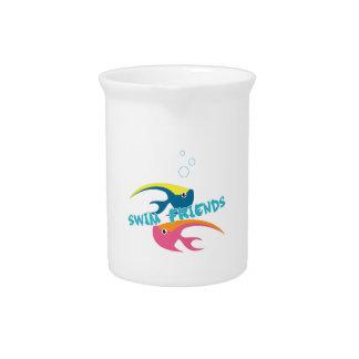 Swim Friends Beverage Pitchers