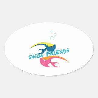 Swim Friends Sticker