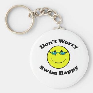 Swim Happy Keychain