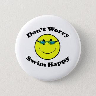 Swim Happy Pinback Button