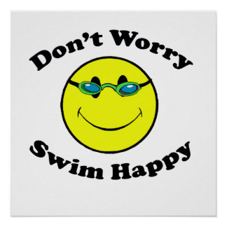 Swim Happy Poster