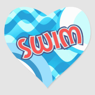 SWIM HEART STICKER